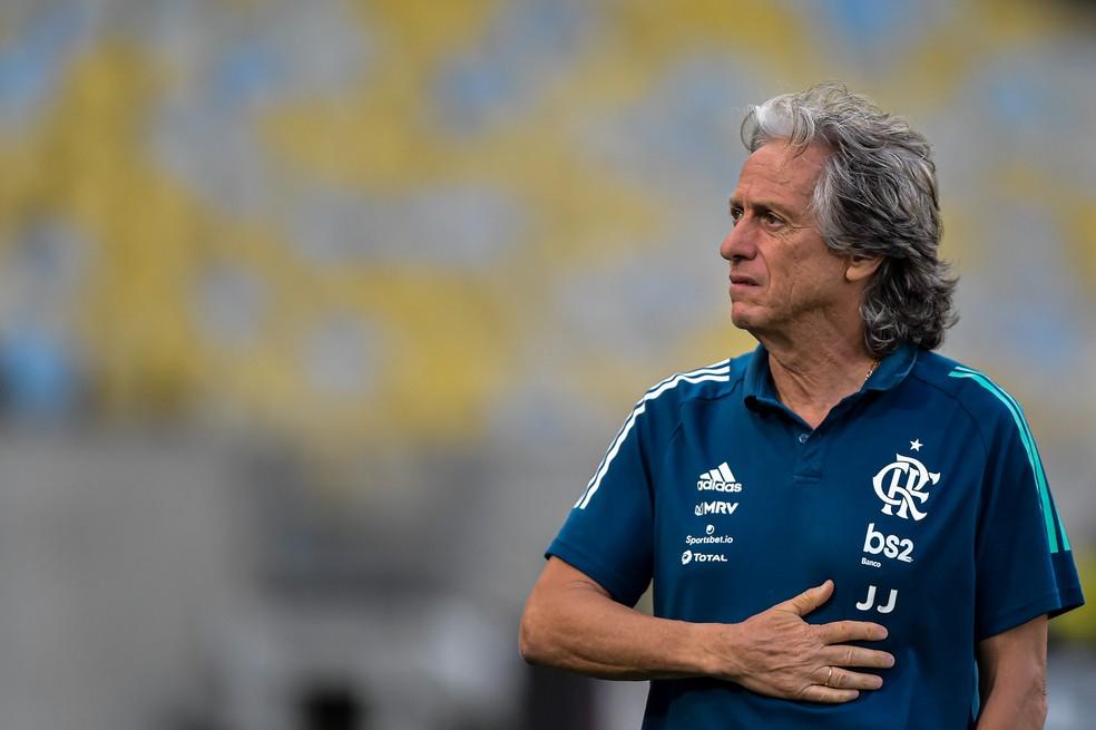 Flamengo x Portuguesa-RJ - Jorge Jesus — Foto: THIAGO RIBEIRO/AGIF - AGÊNCIA DE FOTOGRAFIA/ESTADÃO CONTEÚDO