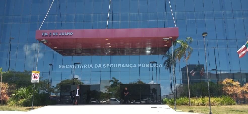 Sede da Secretaria de Segurança Pública da Bahia (SSP-BA) — Foto: Cid Vaz/TV Bahia