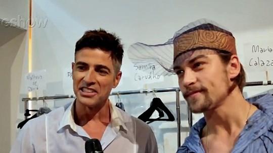 Gianecchini passa perrengue ao se vestir como Anthony em desfile; confira o vídeo!