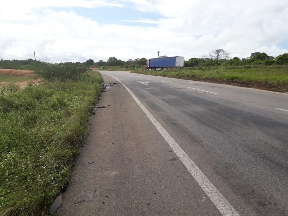 Acidente aconteceu na BR-304, no trecho conhecido como Reta Tabajara (Foto: Marksuel Figueredo/Inter TV Cabugi)