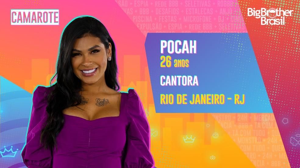 Pocah  é participante do 'BBB21' — Foto: Divulgação/Globo