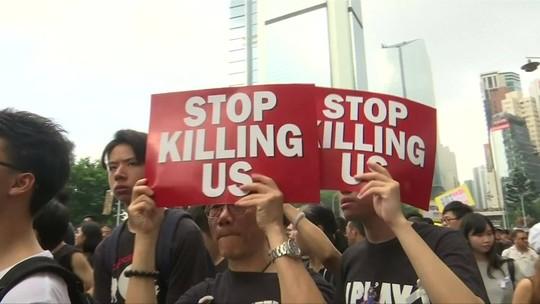 Em meio à onda de manifestações, Hong Kong retira projeto de lei que iniciou protestos