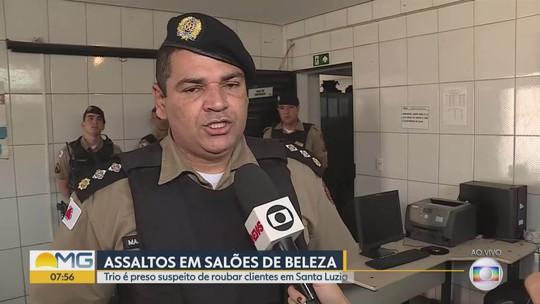 Trio suspeito de assaltar clientes é preso em Santa Luzia