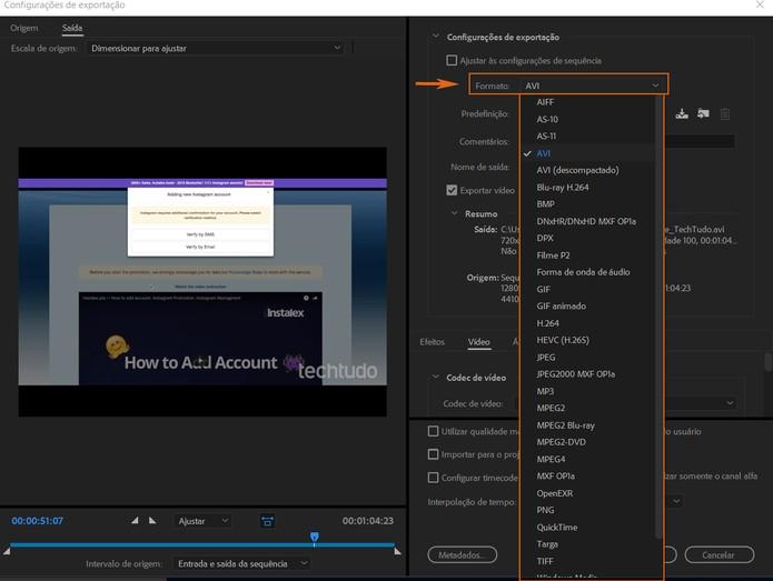 Como converter o formato de um vídeo usando o Adobe Premiere