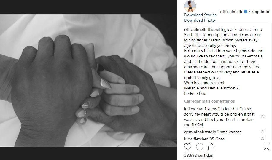 Mel B lamenta a morte do pai, Martin Brown (Foto: Reprodução / Instagram)