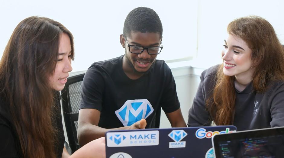 Alunos da Make School, em São Francisco (Foto: Divulgação)