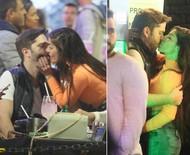 Ex-BBB Anamara Barreira é vista aos beijos em bar, no Rio
