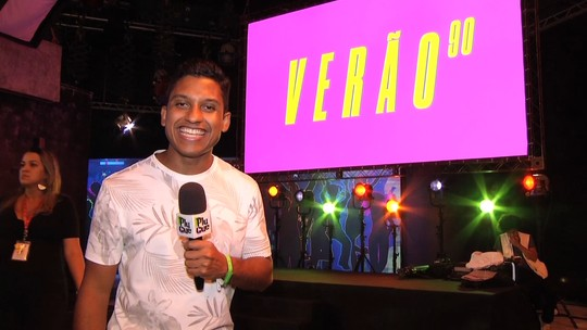 Rovany Araújo acompanhou bastidores do lançamento de 'Verão 90'