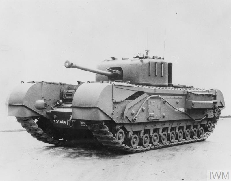 """Tanque apelidado de """"Churchill"""" foi produzido pela Vauxhall (Foto: Captura de internet)"""