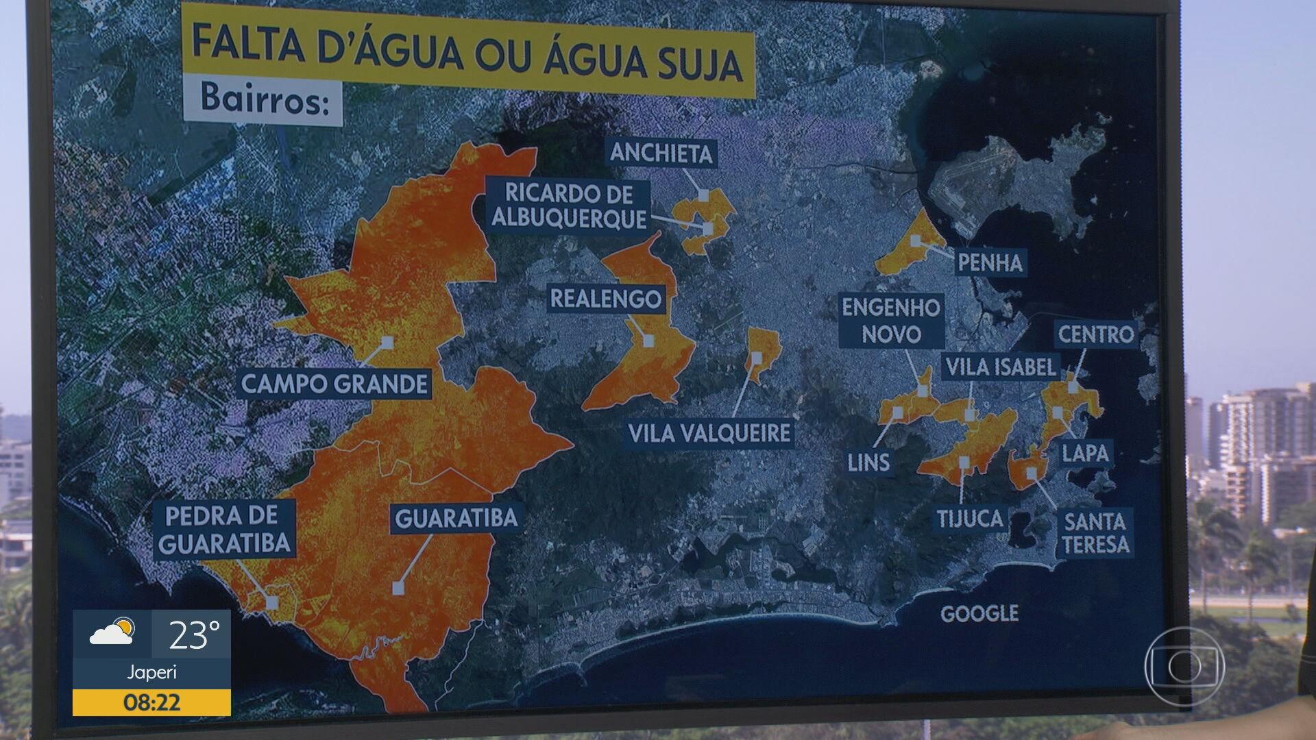 Moradores de 16 bairros do Rio relatam problema no abastecimento de água