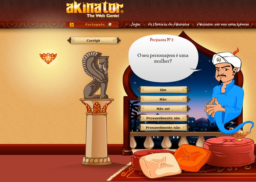 Akinator | Jogos | Download | TechTudo