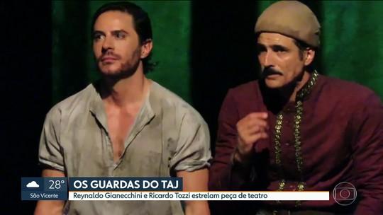 """Gianecchini e Tozzi estrelam peça """"Os Guardas do Taj"""" em SP"""