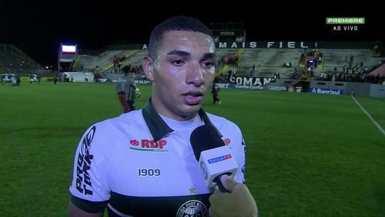Igor Jesus fala após vitória do Coritiba contra o Brasil de Pelotas