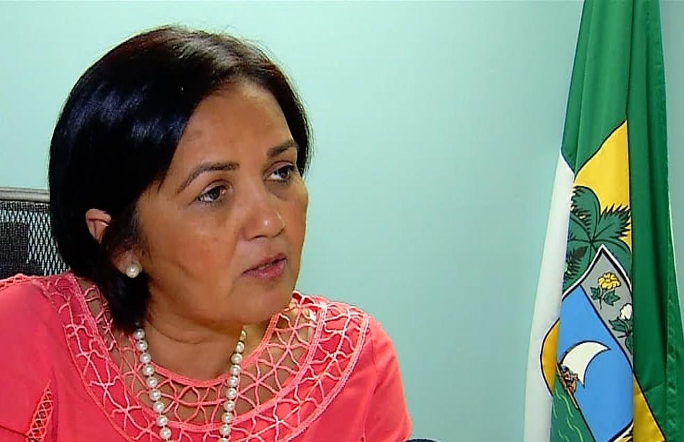 Sheila Freitas, secretária de Segurança do RN (Foto: Inter TV Cabugi)