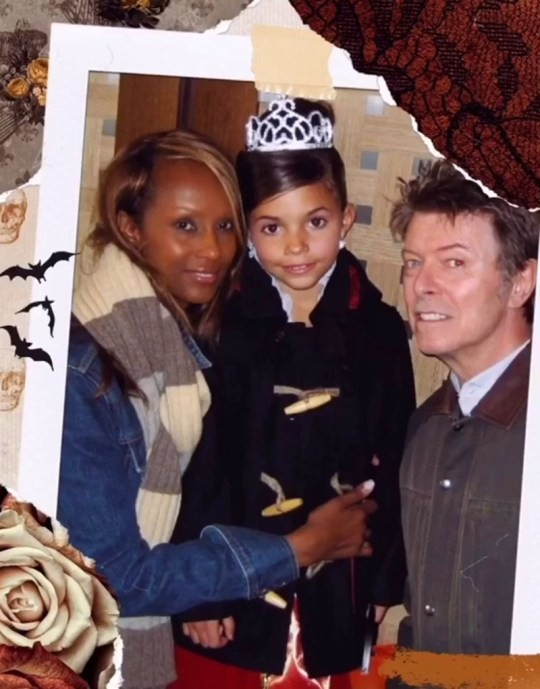David Bowie, Iman Abdulmajid e Lexi Jones (Foto: Instagram)