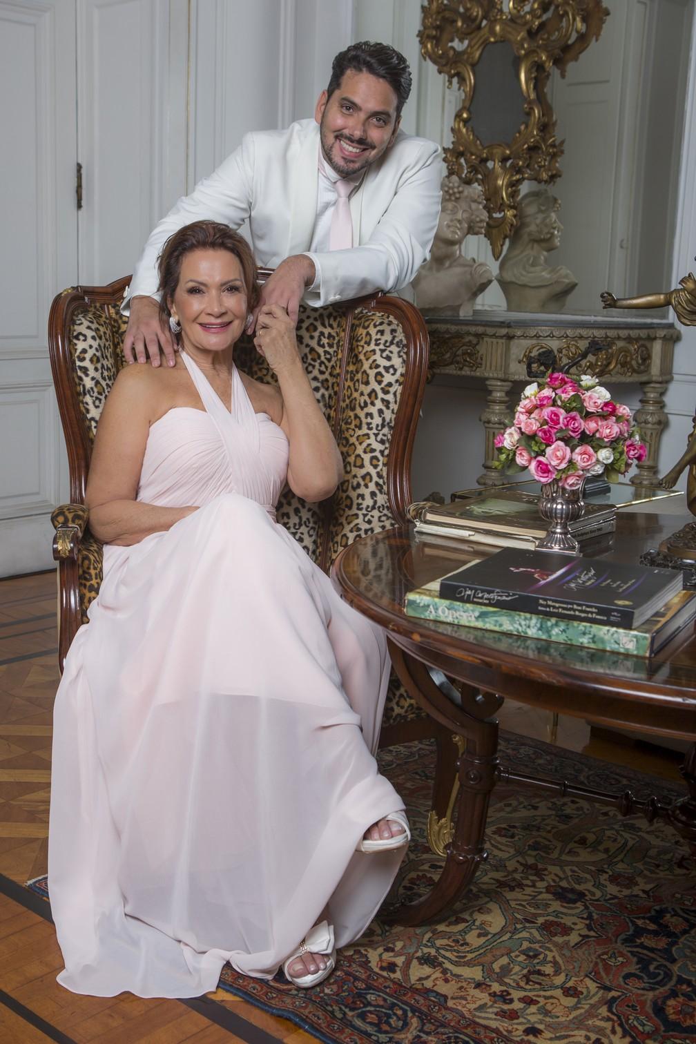 Ieda revela o segredo do relacionamento com Marcelo: 'Nunca brigamos, e aí entra a minha experiência, o meu lado de mulher vivida' — Foto: Artur Meninea/ Gshow