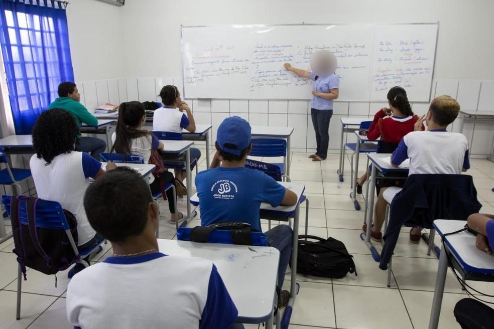 Levantamento da Seplag aponte que 33% dos professores afastados tratam transtornos mentais — Foto: Junior Silgueiro/Seduc-MT