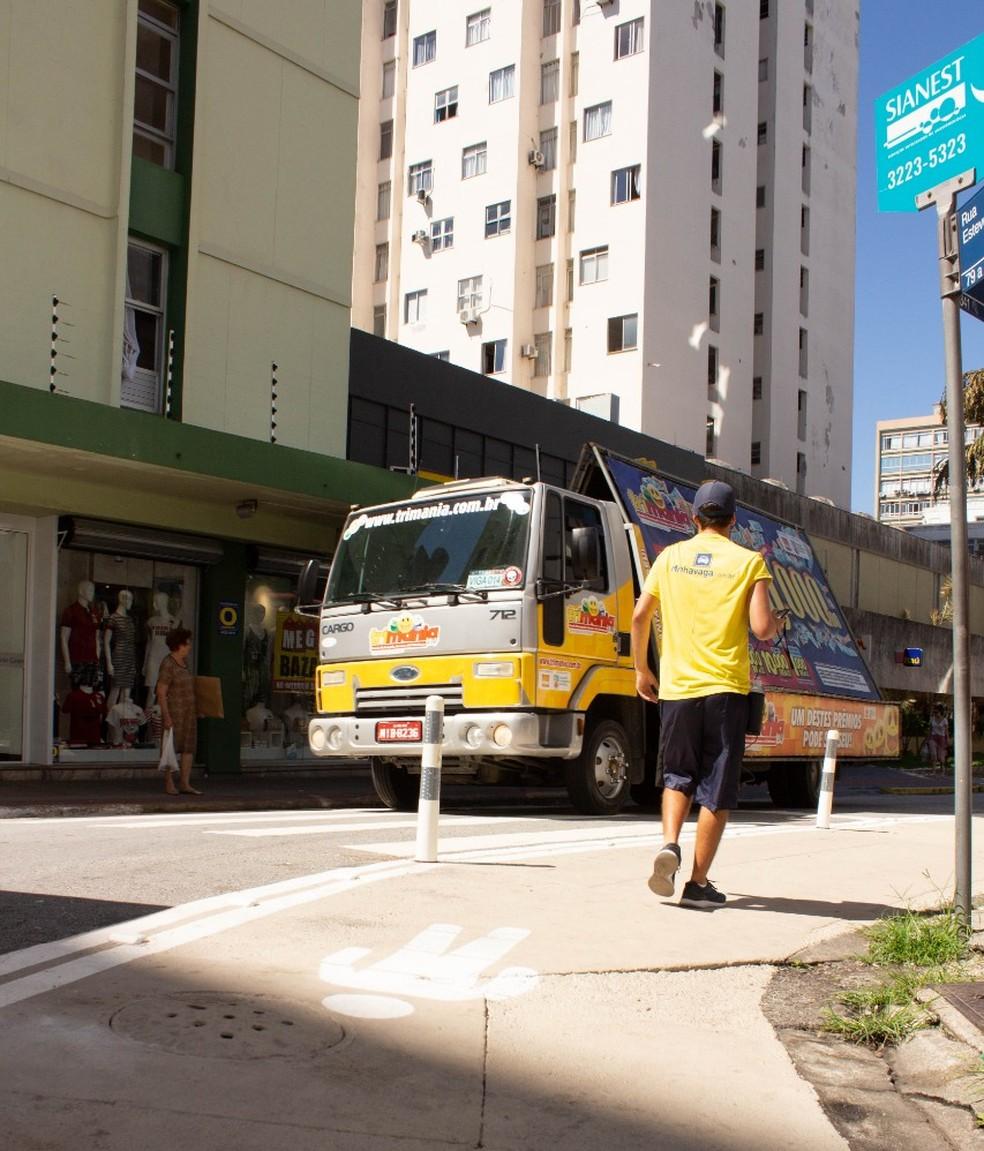 Projeto amplia espaço para pedestres nas ruas de Florianópolis — Foto: Prefeitura de Florianópolis/Divulgação