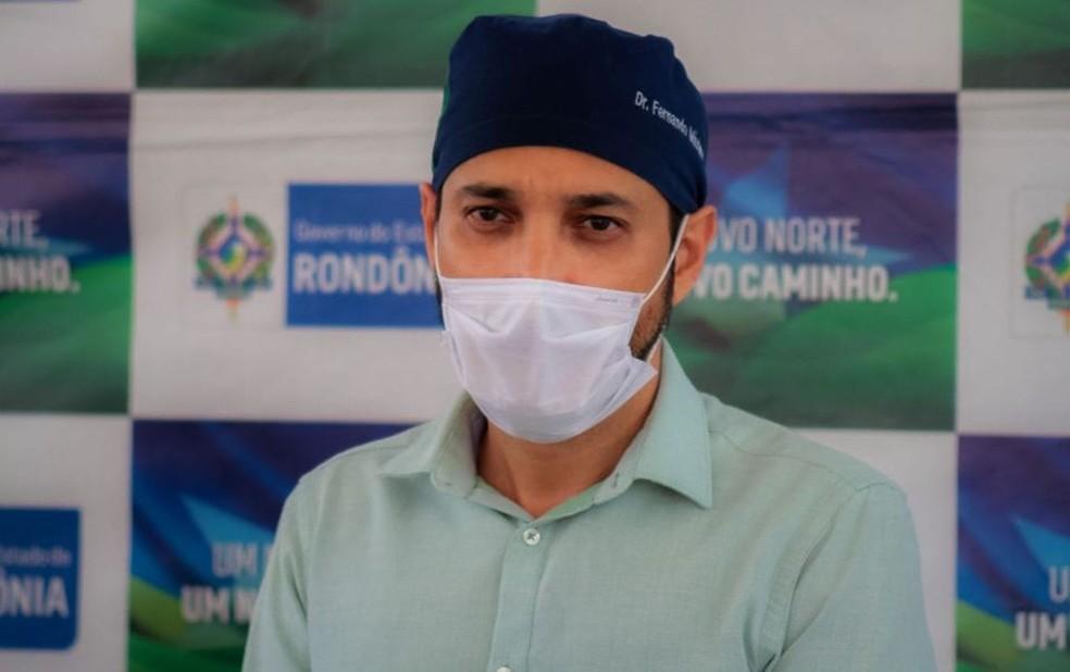 Fernando Máximo foi internado em UTI de Porto Velho.  — Foto: Divulgação/Sesau