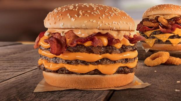 Sanduíche do Burger King, um dos clientes da Almoço Grátis (Foto: Divulgação)