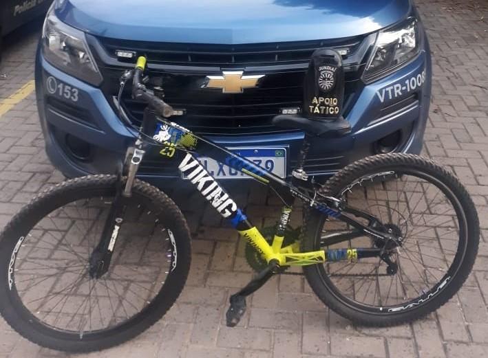 Homem é preso após roubar bicicleta de criança em Jundiaí