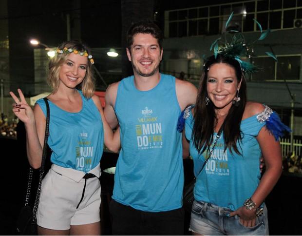 Bárbara França, Caio Paduan e Renata Dominguez (Foto: Sercio Freitas)