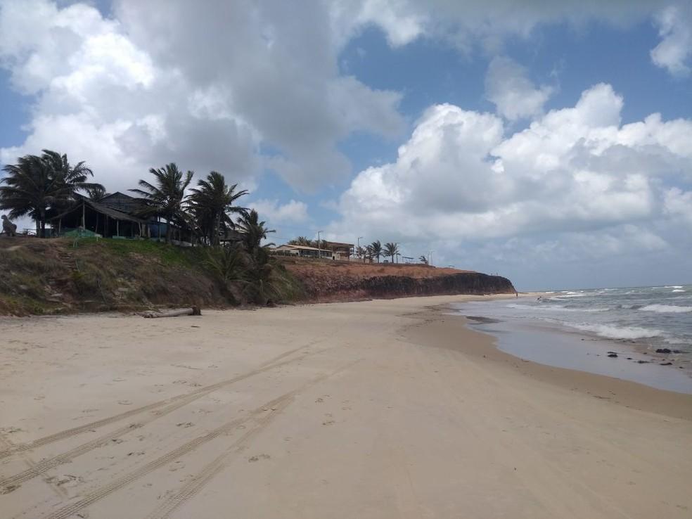Praia de Sibaúma, litoral Sul do RN (Foto: Lucas Cortez )