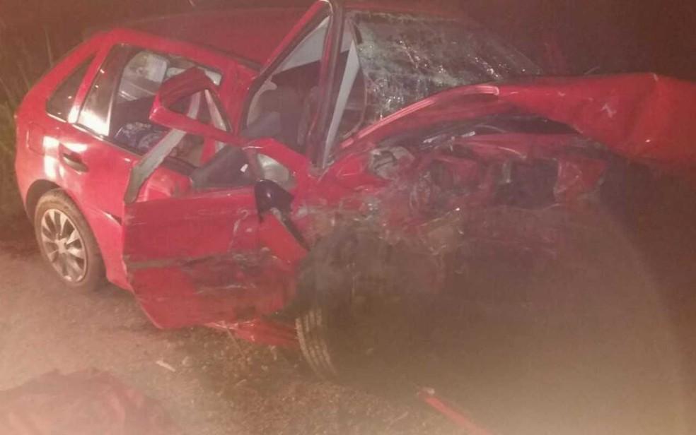 Mãe, filha e neta que morrem estavam em carro que invadiu pista, diz PRF (Foto: PRF/Divulgação)