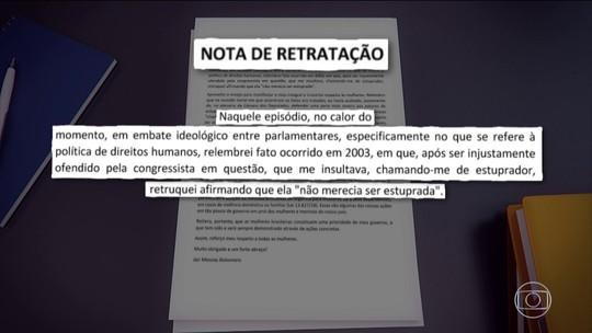 Bolsonaro publica nota de retratação por determinação da justiça