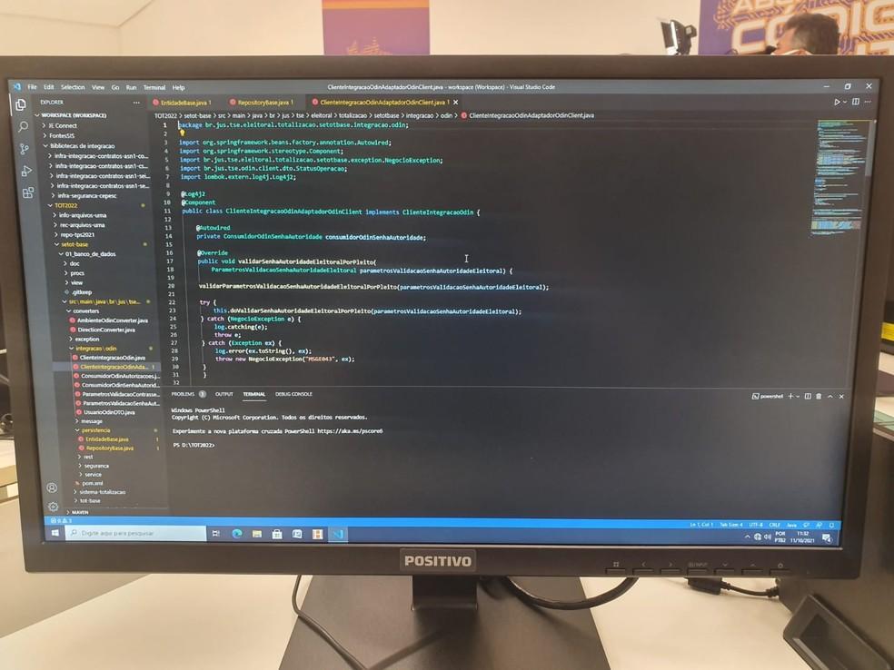 Códigos-fonte que serão analisados durantes os testes no TSE — Foto: Divulgação/TSE