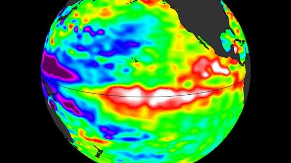 Quando o El Niño está ativo a água do oceano na zona equatorial está mais quente (Foto: Cortesia de William Patzert)