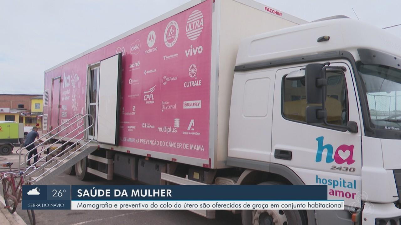 Hospital de Amor: mulheres do Conjunto Açucena têm exames de PCCU e mamografia gratuitos