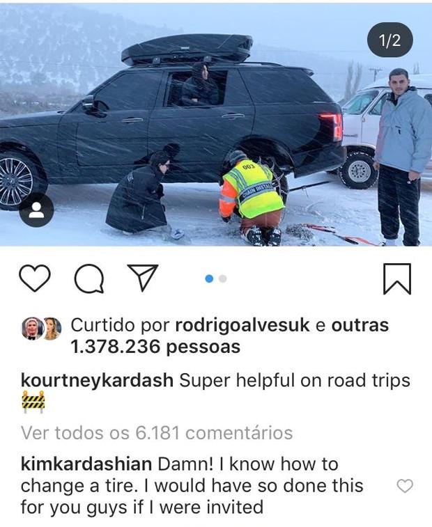 Comentário de Kim Kardashian (Foto: Reprodução/Instagram)