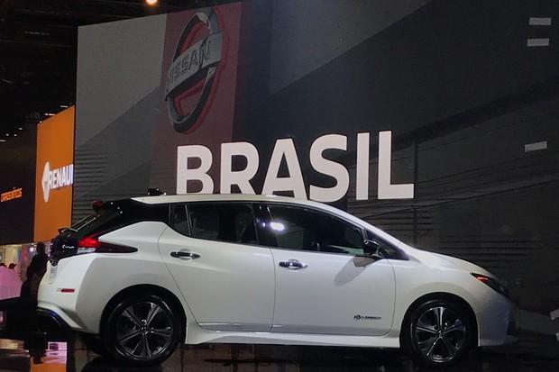 Leaf tem preço próximo do cobrado pelo Chevrolet Bolt (Foto: Diogo de Oliveira/Autoesporte)