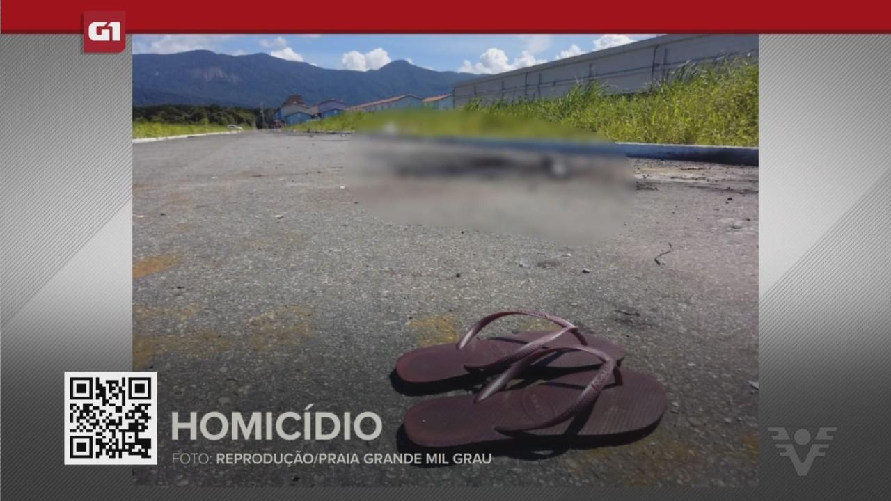 G1 em 1 Minuto - Santos: Jovem encontrada carbonizada tinha lesões na cabeça