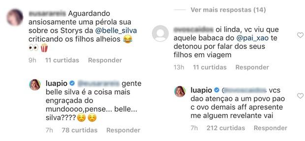 Respostas de Luana Piovani (Foto: Reprodução/Instagram)