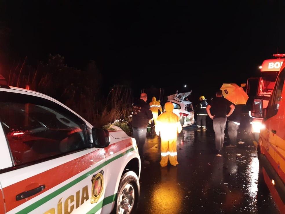 Seis pessoas morreram em acidente nesta quinta-feira, em Campo Alegre — Foto: IGP/ Divulgação