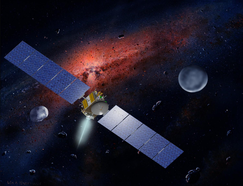 Concepção artística da sonda Dawn (Foto: NASA)