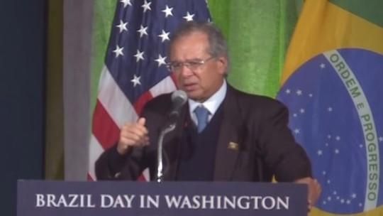 ASSISTA: Paulo Guedes fala agora em Washington