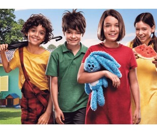 Gabriel Moreira, Kevin Vechiatto, Giulia Benite e Laura Rauseo foram escolhidos entre mais de 7,5 mil crianças que se candidataram ao teste para o filme | Divulgação