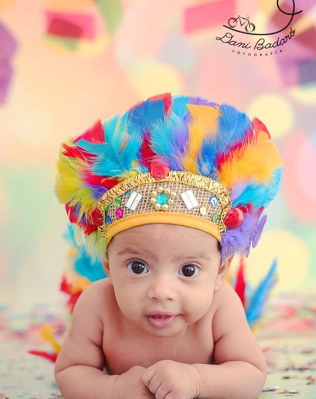 Bernardo, filho de Aline Dias (Foto: Reprodução/Instagram)
