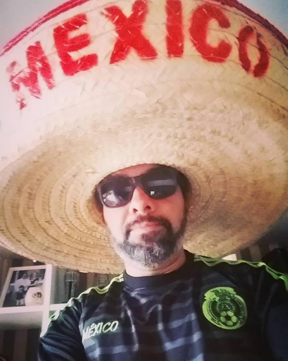 Edson Faria Júnior diz que amigos sempre acharam que ele tinha cara de mexicano (Foto: Arquivo pessoal)