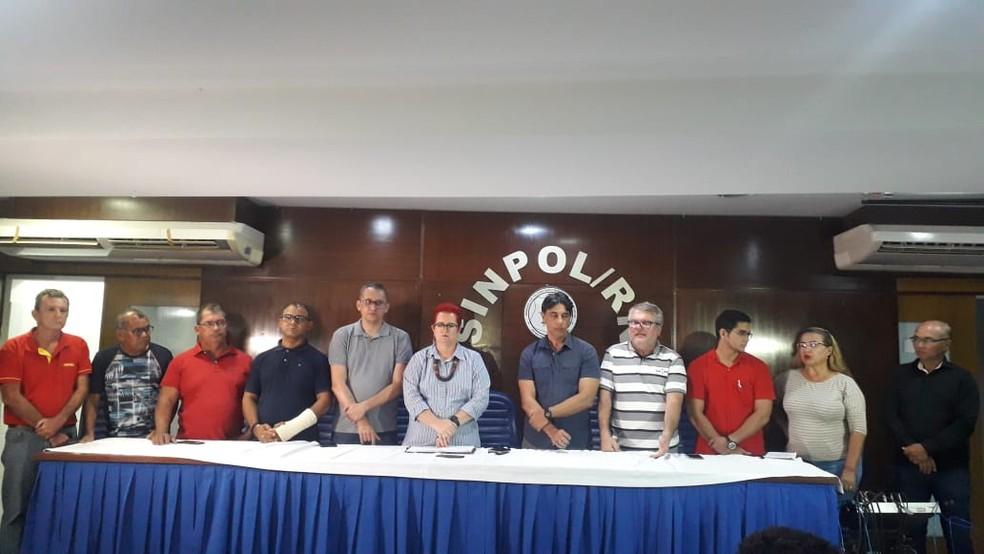 Sindicatos não participaram da reunião sobre nova reforma da previdência do RN — Foto: Julianne Barreto/Inter TV Cabugi