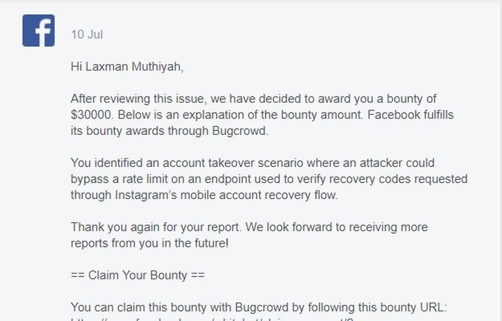 Facebook deu recompensa de US$ a desenvolvedor que descobriu falha no Instagram — Foto: Divulgação/The Zero Hack