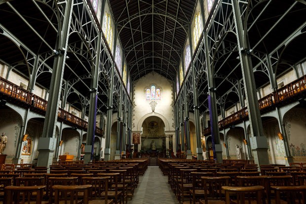 Interior of the Notre-Dame du Travail's Church (Foto: Getty Images)