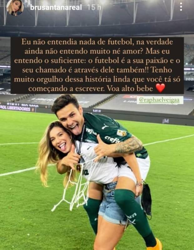 Bruna Santana e Raphael Veiga (Foto: Reprodução/Instagram)