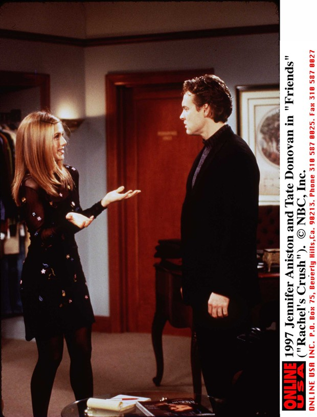 Rachel Green e Joshua Bergin, personagens da série 'Friends' (Foto: Getty Images)