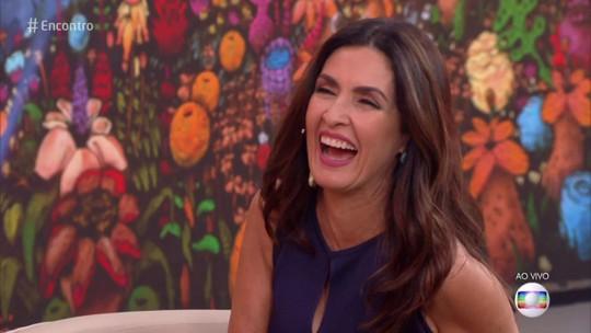 Fátima Bernardes se diverte com Gui Santana imitando William Bonner: 'Apelou'