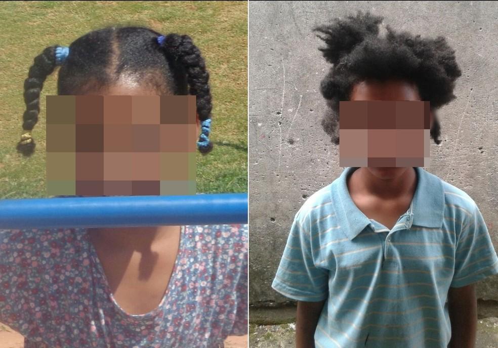 À esquerda, menina antes de ter o cabelo cortado; à direita, depois do corte. Segundo família, parentes obrigaram criança a cortar o cabelo (Foto: Arquivo Pessoal)