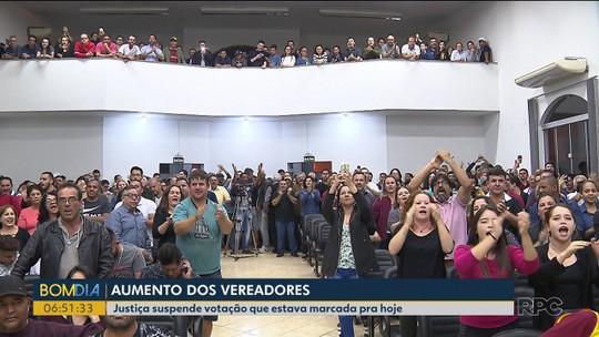 Justiça suspende votação de aumento de salários em Santo Antônio da Platina